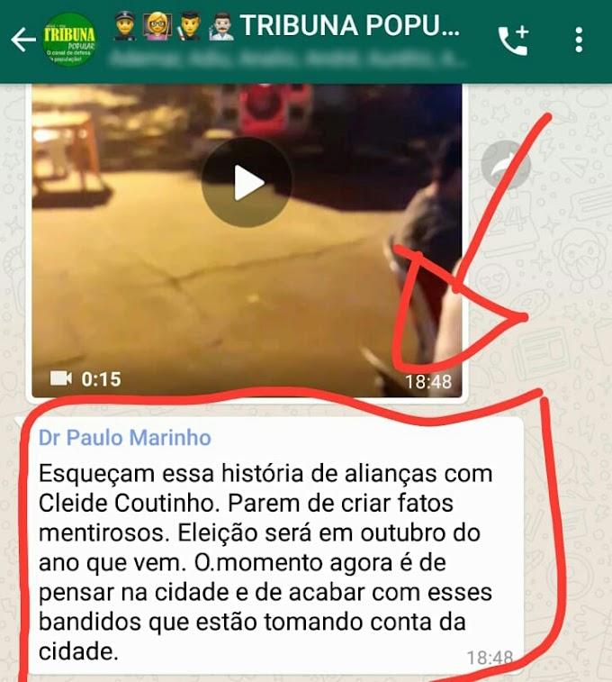REPERCUSSÃO - Paulo Marinho não quer aliança com os Coutinho e pede combate aos bandidos
