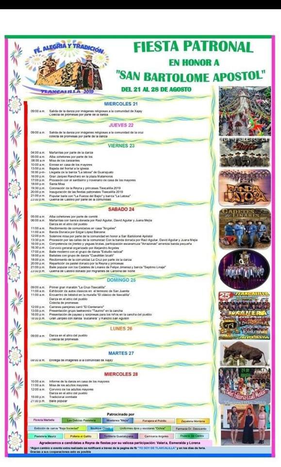 programa feria tlaxcalilla 2019