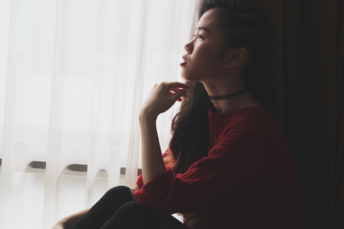 Brunei Blogger May Cho of The Mayden | reflection of 2015 red sweater choies