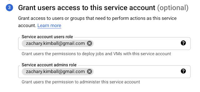 GCP service account user