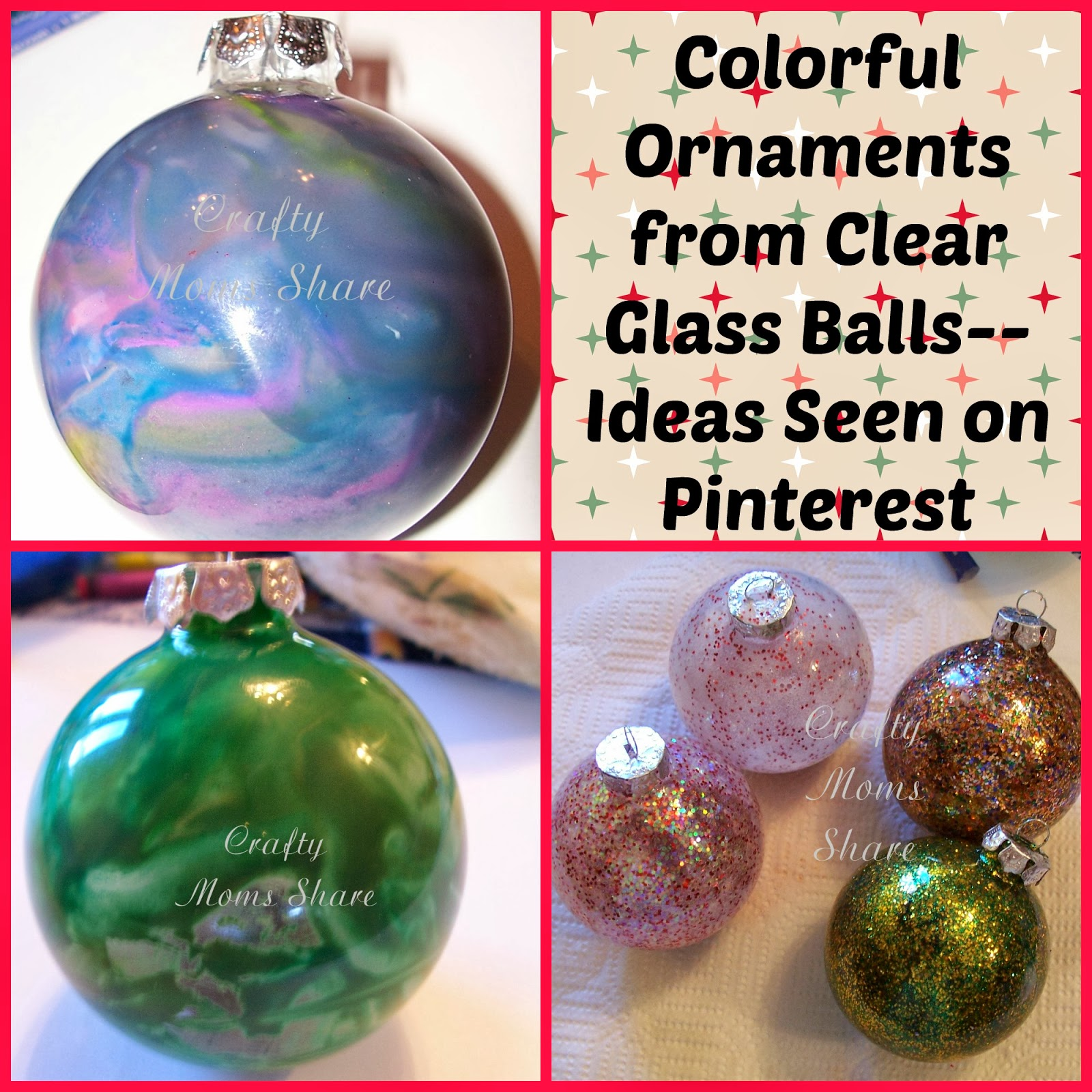 glass ball christmas ornaments ideas from pinterest