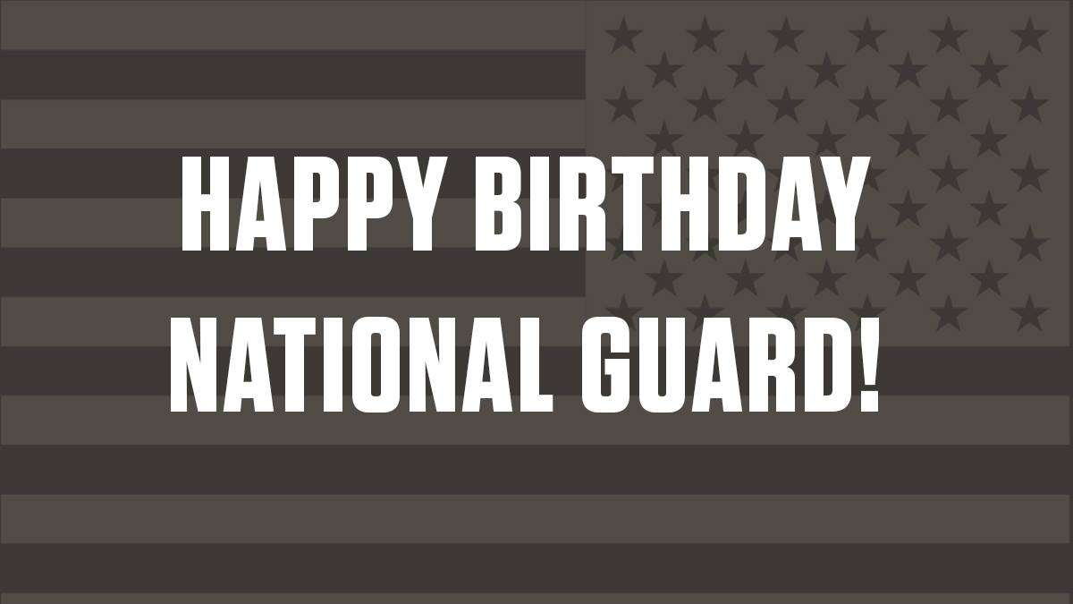 U.S. National Guard Birthday Wishes Awesome Picture