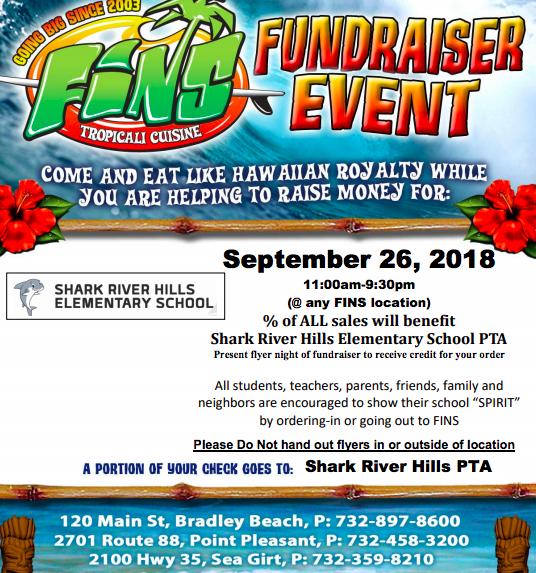 FINS Dine Around Fundraiser | September 26th 11am to 9:30pm - Shark