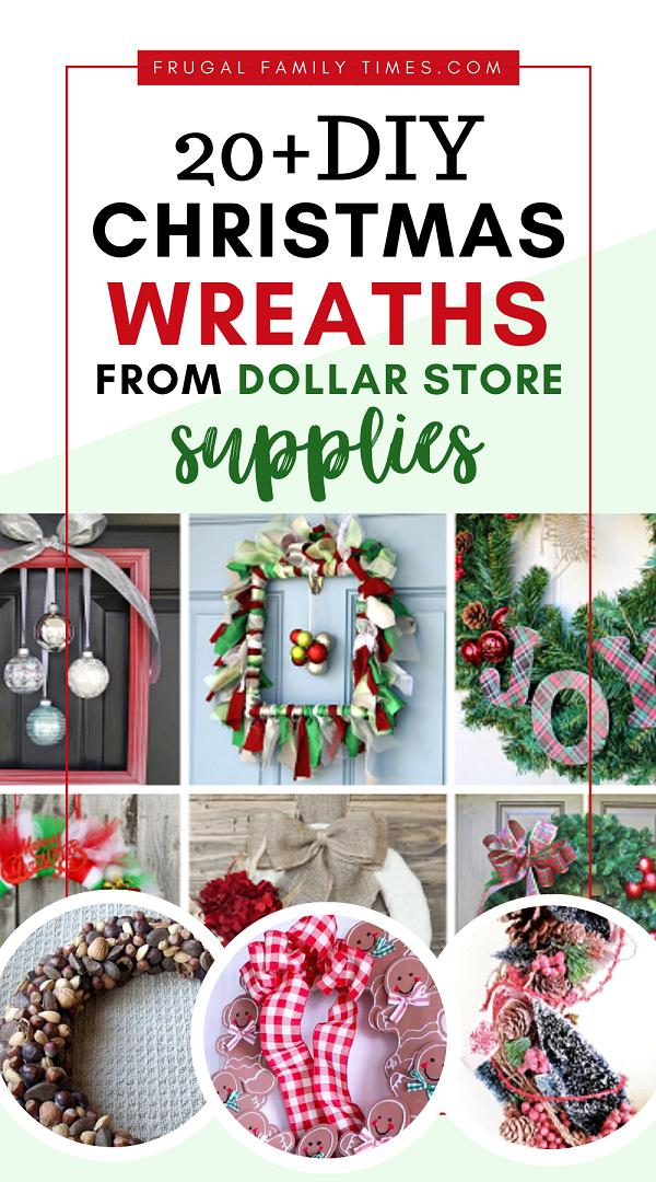 dollar store christmas wreath ideas