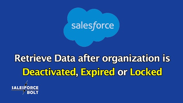What happens to Data after the Salesforce Org is Deactivated, Expired or Locked