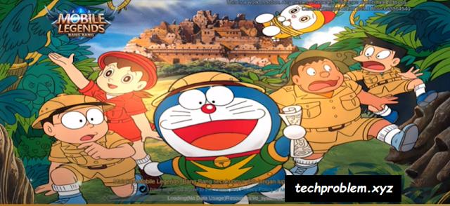 Script Background + Tower Tema Full Doraemon Mobile Legends