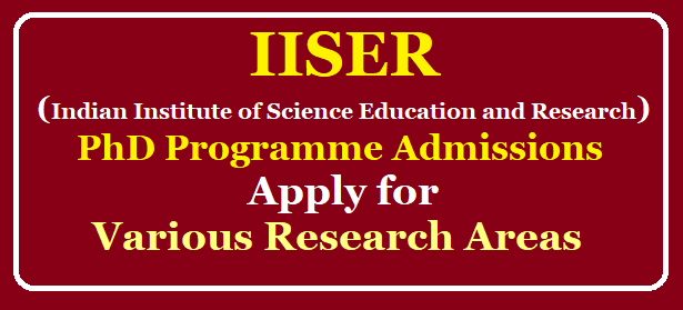 Indian Institute of Science Education and Research (IISER) Tirupati PhD Programme Admissions 2020, Apply for Various Research Areas /2019/10/iiser-tirupati-phd-programme-admissions-apply-for-various-research-areas.html