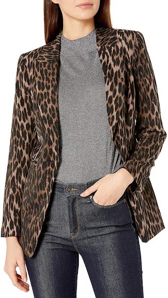 Women's Blazers With Animal Leopard Skin Pattern