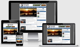 Frontier Blogger Template Responsive View