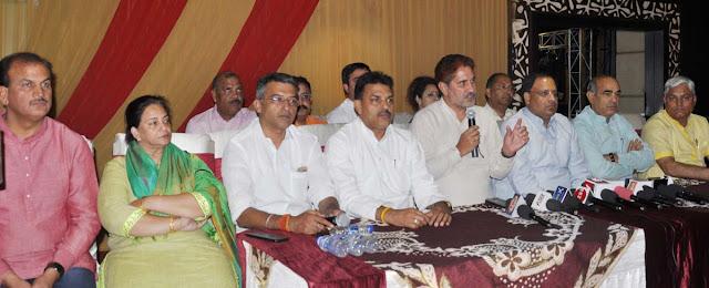 subhash-barala-bjp haryana-president-press-conference-hotel-delite-grand-nit-faridabad