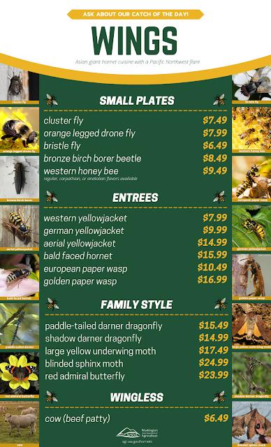 pretend Asian giant hornet menu