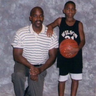 Jeff Teague With His Father In This Childhood Picture