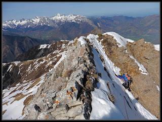 Llegando a la cresta del Ronglet