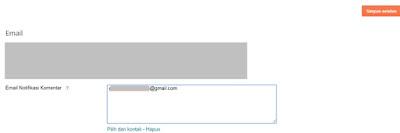 Cara Mengaktifkan Email Notifikasi Komentar Blog