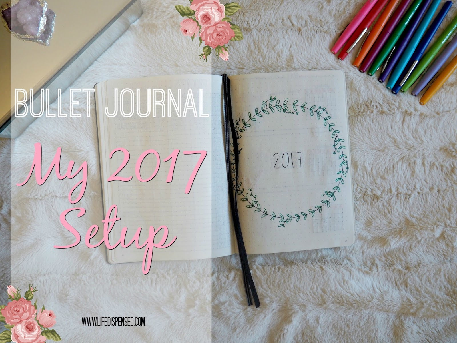 New Year Bullet Journal Set Up January 2017 Life Dispensed