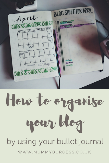 organise your blog using your bullet journal