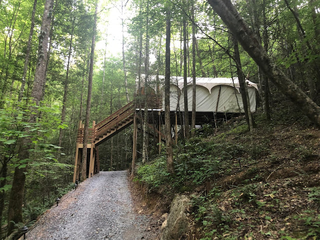 yurt village in the smoky mountains