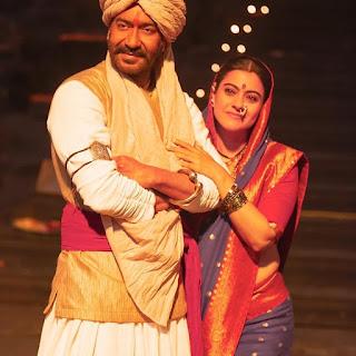 Ajay Devgn and Kajol in Tanaji Movie