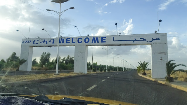 Sign on the way from the Asmara airport to the city