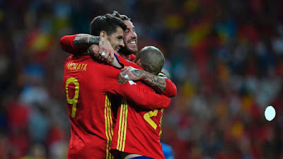 Highlight Spanyol 3-0 Italia, 2 September 2017