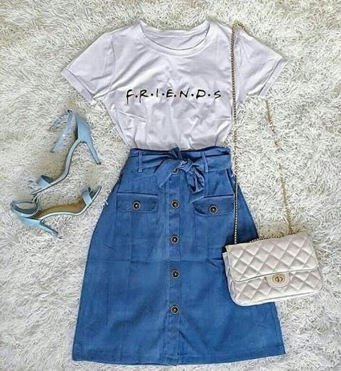 Looks com Saia Jeans: Dicas de como usar e montar looks incríveis