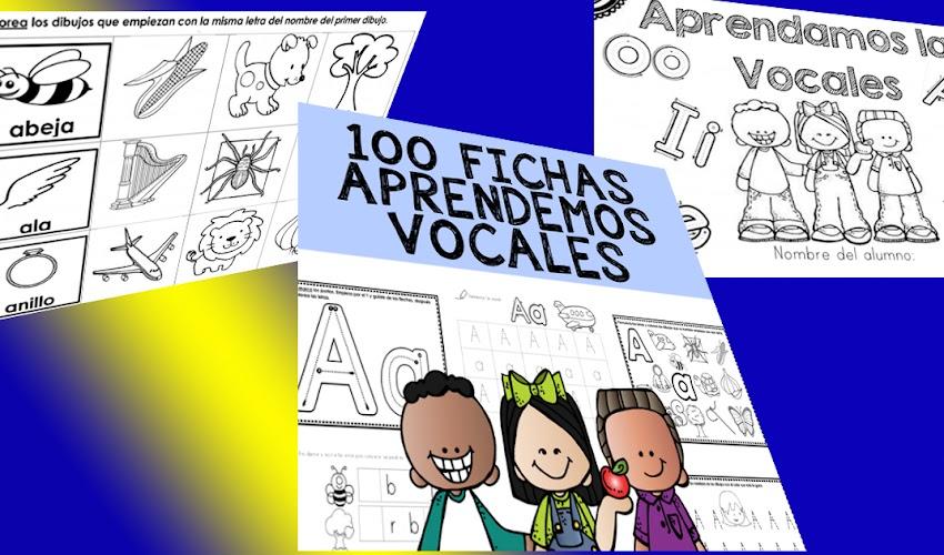 100 Fichas para aprender la vocales