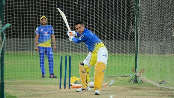 MS Dhoni prepares for IPL 2021