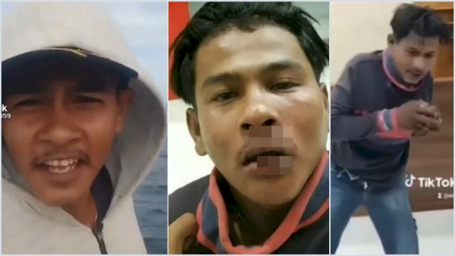 Pemuda Aceh Penghina Polisi Babak Belur Usai Ditangkap,  Bibirnya Pecah dan Disuruh Joget