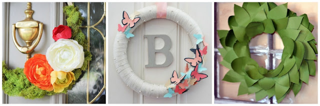 easy to make spring wreaths