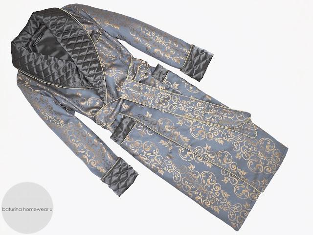 herren morgenmantel edel klassisch englisch hausmantel paisley seide gesteppt baumwolle warm lang elegant stilvoll