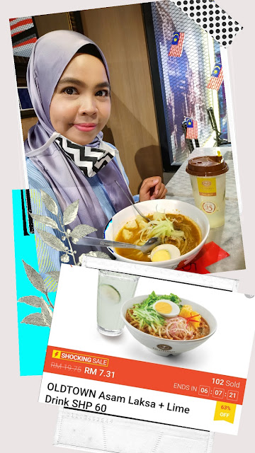 OLDTOWN Asam Laksa + Lime Drink  Normal price RM19.75