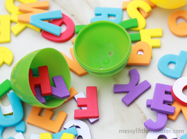alphabet Easter activity for preschoolers