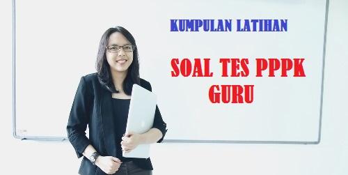 Soal Tes Seleksi PPPK Guru SD SMP SMA SMK Tahun 2021 - 2022