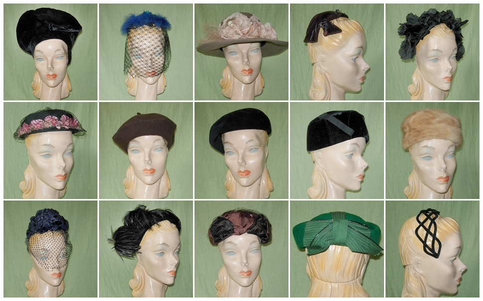 More of the big batch of 100+ vintage hats that I bought a few weeks ago.  Most from the 1950-60s. Many great styles. 80b6988389c