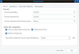 Fluxbox usando PcmanFm para adicionar icones
