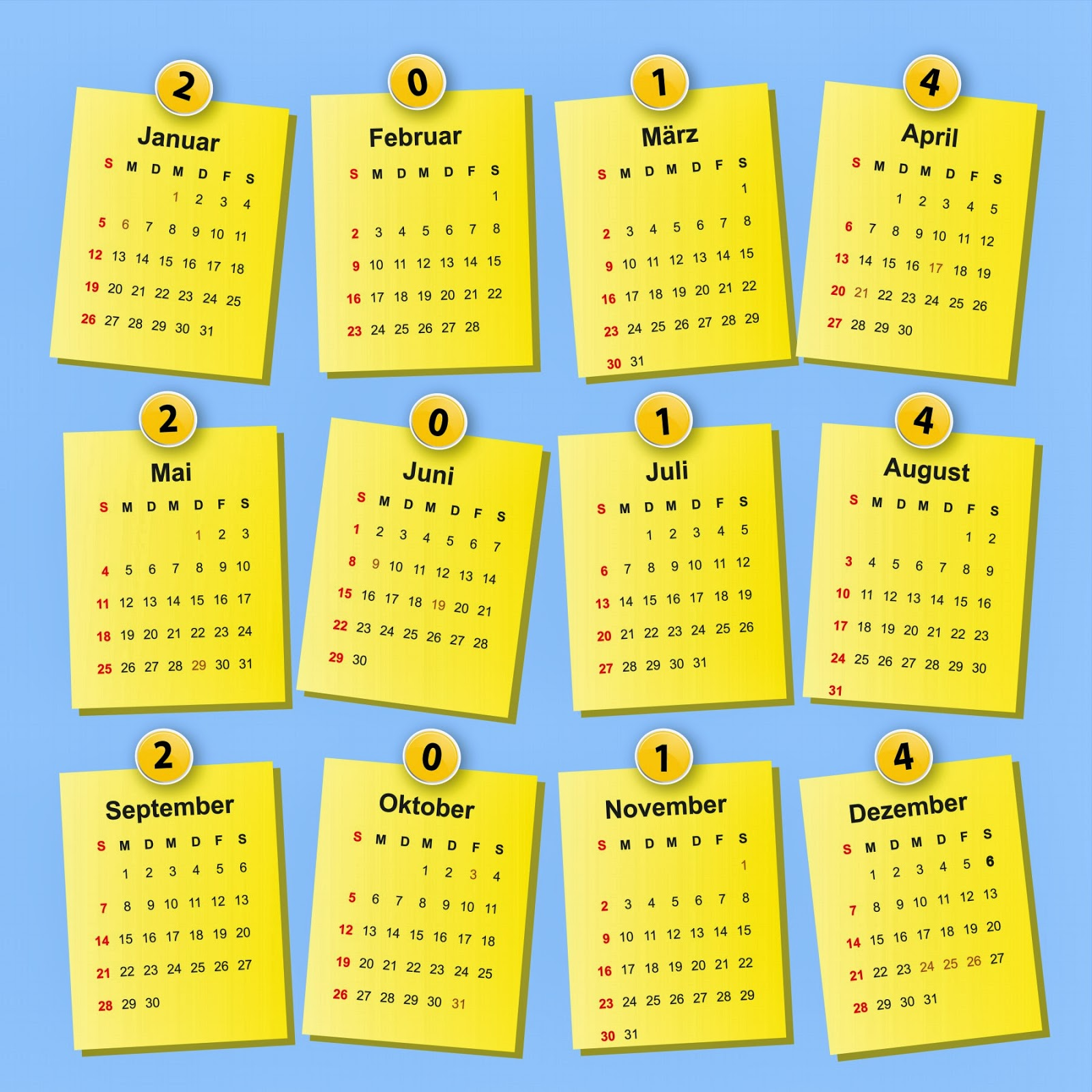 1NDONEZIA: Kalender Tahun 2014 Yang Lucu, Unik dan Keren