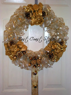 ribbon door wreath