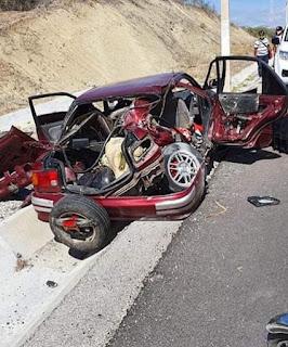 Un muerto y tres heridos en accidente de tránsito tramo carretero Barahona-Azua