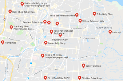 Cek lokasi toko keperluan bayi Surabaya pusat, barat, timur, utara, sltn