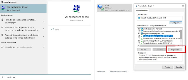 Modificar los DNS en Windows 10
