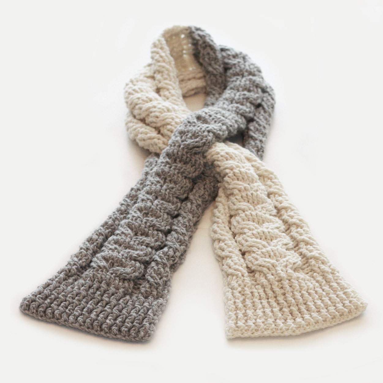 Crochet Pattern Keyhole Scarf : knot sew cute design shop: new crochet pattern - cabled ...