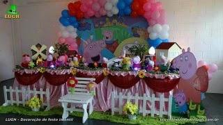 Peppa Pig - Decoração de mesa para festa de aniversário Peppa Pig luxo