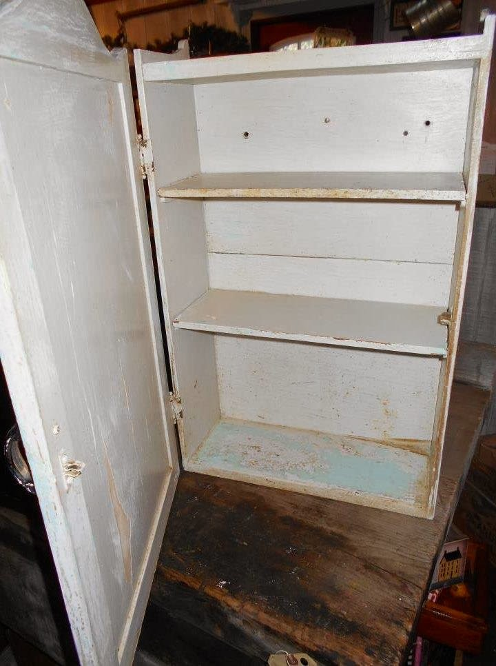 Log Cabin Antiques & Gifts: Funky, chippy medicine cabinet
