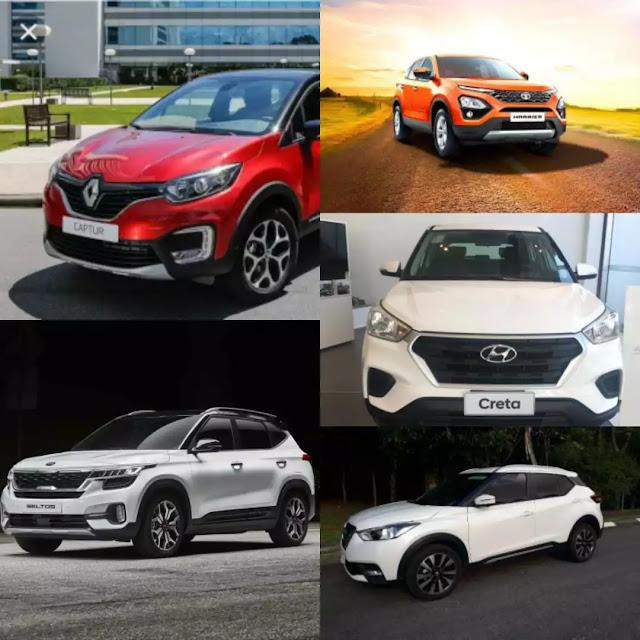 Kia Seltos vs MG Hector Vs Hyundai Creta Vs Tata Harrier Vs Renault Captur Vs Nissan Kicks: Specifications comparison