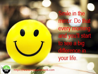 Smile in the mirror | Quotes on Smile