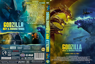 GODZILLA: REY DE LOS MONSTRUOS - GODZILLA 2 : KING OF MONSTERS - 2019 [COVER DVD + BLU RAY]