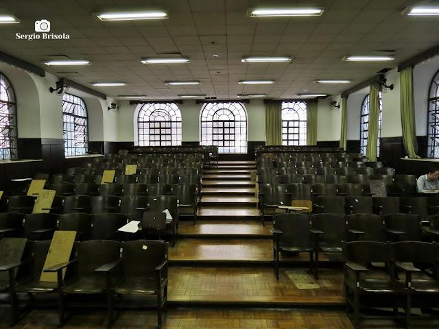 Vista do interior de uma das salas de aula da Faculdade de Direito da USP - Largo São Francisco - Sé - São Paulo