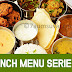 Lunch Menu Series 2/ South Indian Vegetarian Thali
