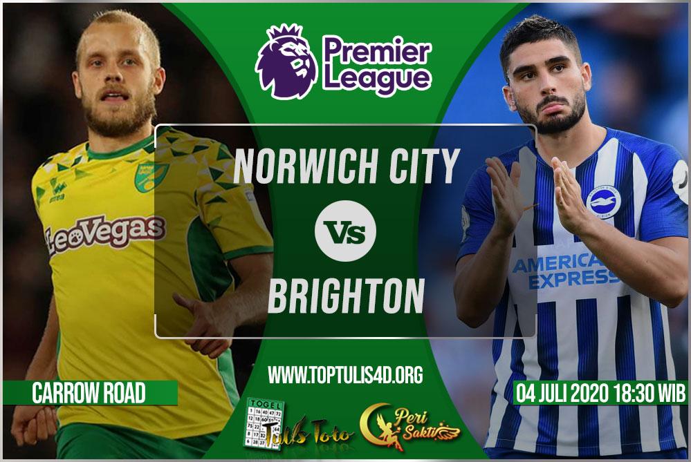 Prediksi Norwich City vs Brighton 04 Juli 2020