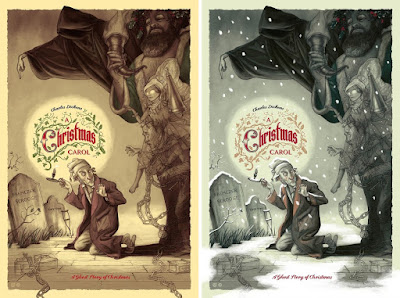 A Christmas Carol Screen Print by Jonathan Burton x Mad Duck Posters